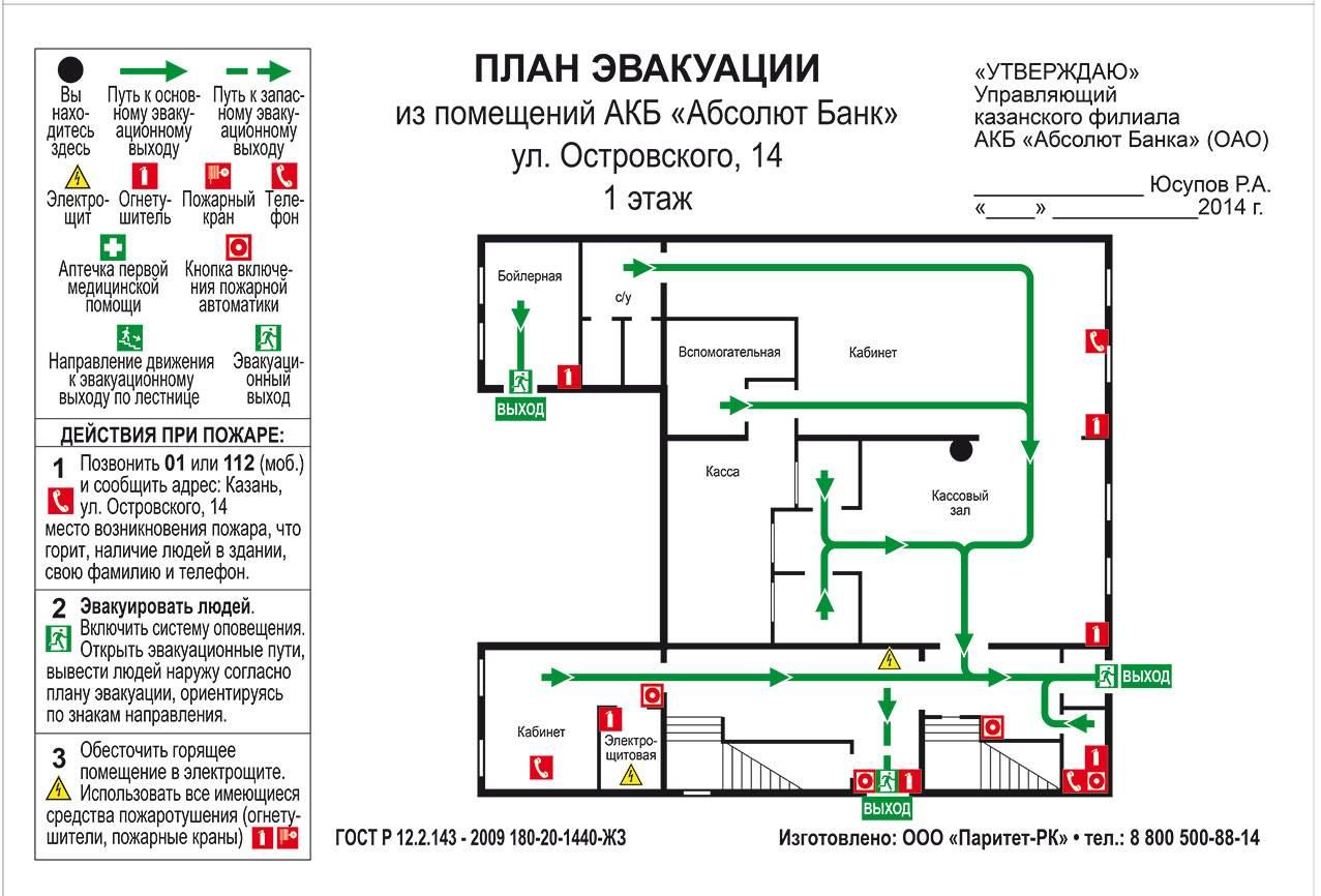 План эвакуации 8 ключ скачать